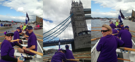 SuABC Explore Rowing Touring Crew in The Great River Race